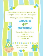 1st Birthday Boy Party Invitations