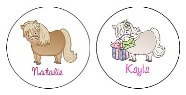 Horse Pony Round Envelope Seals Labels