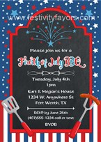 BBQ 4th of July Party Invitations