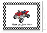 ATV 4 Wheeler Thank You Note Cards