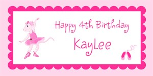 Angelina Ballerina Birthday Party Banner