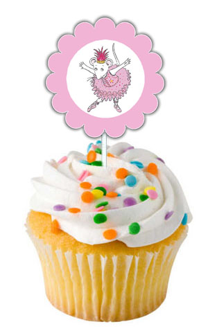 Angelina Ballerina Cupcake Toppers
