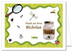 Bugs Insects Nature Thank You Note Cards