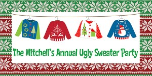 Christmas Ugly Sweater Holiday Party Banner