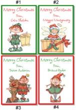 Christmas Elves Crayon Box Labels Favors