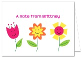 Flowers Birthday Party Thank You Note Cards Personalized