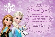 Frozen Thank You Cards Personalized