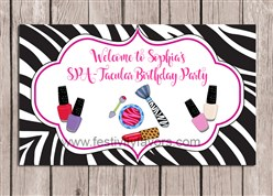Glamour Girl Makeover Birthday Party Sign
