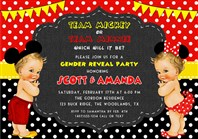 Team Mickey or Team Minnie Gender Reveal Invitations