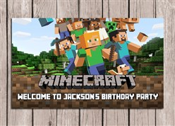 Minecraft Birthday Party Sign