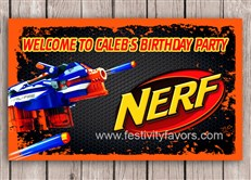 Nerf Birthday Party Sign