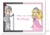 Princess and Knight Thank You Note Cards Personalized
