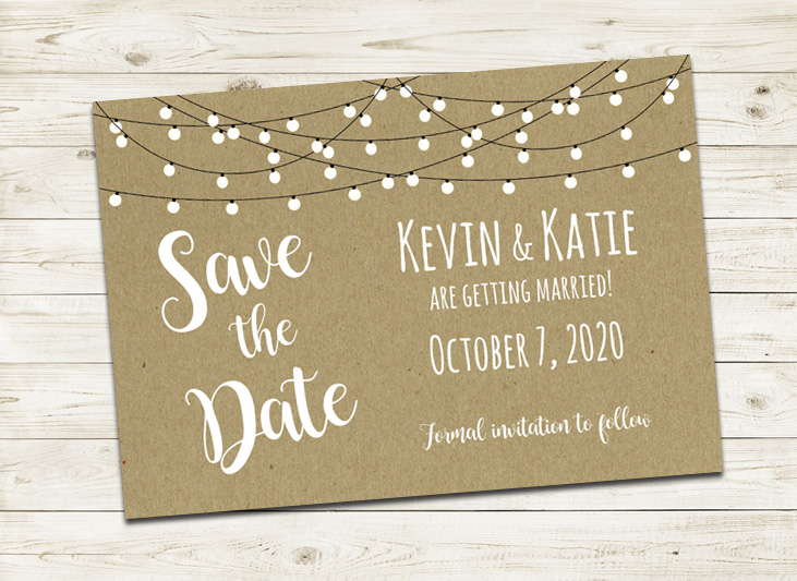 Rustic Country Wedding Save the Date Cards
