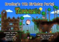 Terraria Birthday Party Invitations