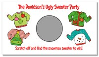 Ugly Sweater Party Scratch Off Tickets Game Cards