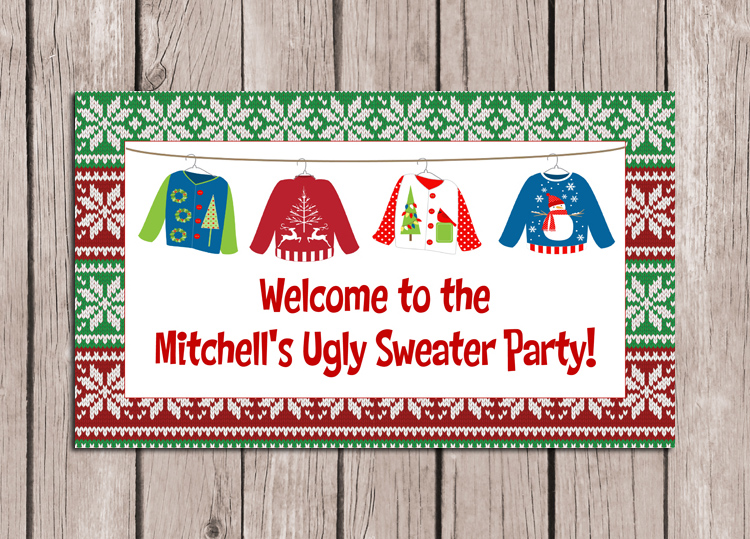 Christmas Ugly Sweater Party Sign
