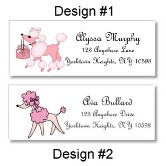 Pink Poodle in Paris Return Address Labels