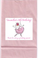 Angelina Ballerina Birthday Party Personalized Goodie Loot Bag Labels