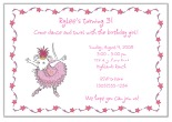 Angelina Ballerina Birthday Party Invitations