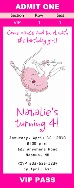 Angelina Ballerina Birthday Party Ticket Invitations