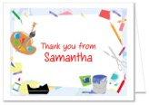 Arts and Crafts Theme Thank You Note Cards