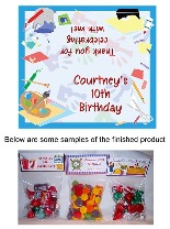 Arts and Crafts Birthday Party Bag Toppers w/Recloseable Bags