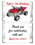 ATV 4 Wheeler Birthday Mini Candy Wrappers Favors
