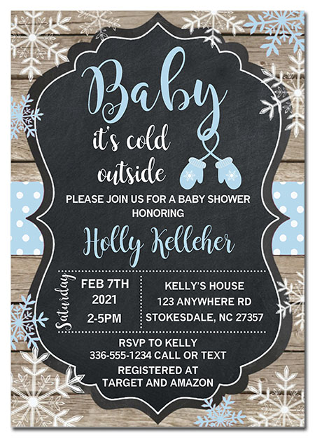 Baby It's Cold Outside Snowflake Baby Shower Invitations