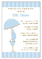 Mod Mom Blue Trendy Baby Shower Invitations Boy