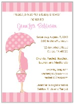 Mod Mom Pink Trendy Baby Shower Invitations Girl