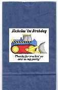 Construction Bulldozer Truck Birthday Party Goodie Loot Bag Labels