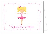 Ballet Ballerina Thank You Note Cards