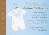 Baptism Christening Religious Blue Boy Invitations