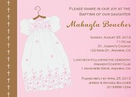 Baptism Christening Religious Pink Girl Invitations