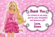 Barbie Thank You Cards