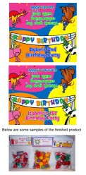 Barnyard Animals Birthday Party Bag Toppers w/Recloseable Bags