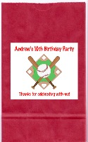 Baseball Birthday Party Goodie Loot Bag Labels