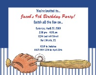 Baseball Birthday Party Invitations 2