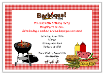 BBQ Barbeque Cookout Party Invitations 2