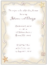 Bridal Shower Beach Ocean Wedding Invitations