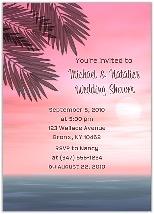 Beach Bridal Shower Wedding Invitations