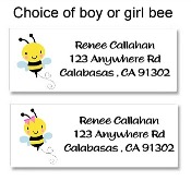 Bumble Bee Baby Shower Return Address Labels