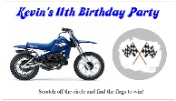 Dirt Bike Scratch Off Tickets Personalized