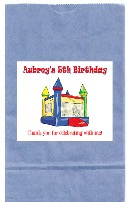 Bounce House Moonwalk Inflatable Birthday Party Goodie Loot Bag Labels