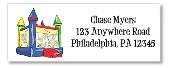 Bounce House Moonwalk Inflatable Return Address Labels