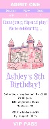 Bounce House Castle Inflatable Birthday Party Ticket Invitations