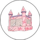 Bounce House Inflatable Castle Round Envelope Seals
