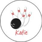 Bowling Round Envelope Seals
