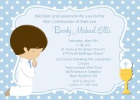 First Holy Communion Boy Invitations