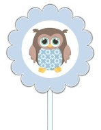 Owl Baby Shower Cupcake Toppers